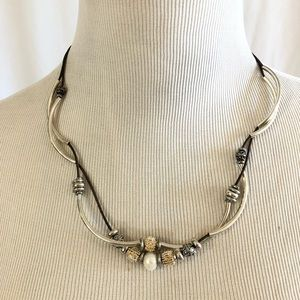 🔥NEW🔥Lizzy James Silver Beaded Necklace/Bracelet